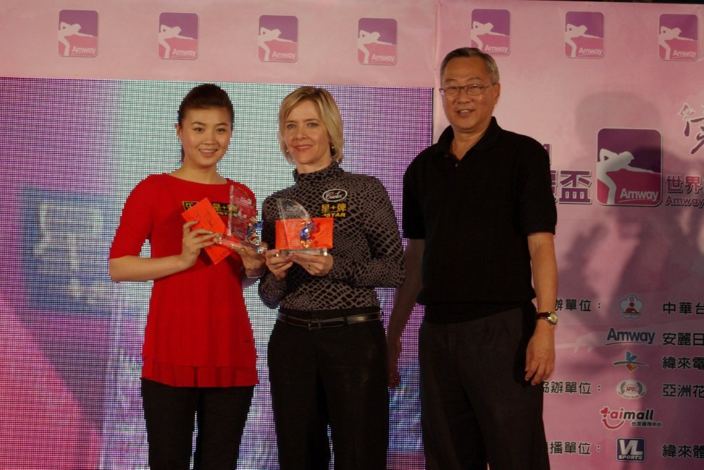 3rd place-Allison Fisher and Xiaofang Fu and WPA borad member Ronnie Chua